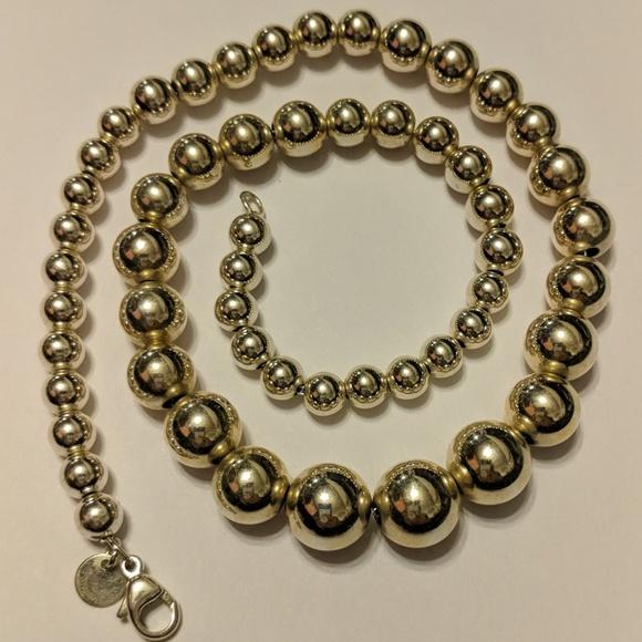 55e43e9cf Vintage TIFFANY & CO 925 Sterling Silver Necklace.  M_5c6de8f1bb761598bd43d415